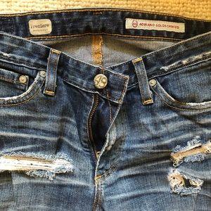 Skinny leg Ripped AG Jeans
